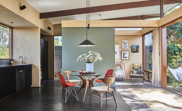 Dulux Colour Awards 2020 – Residential Interior. Angophora Pavillion by Ava Shirley Architect. Photographer: Michael Nicholson and James Deck
