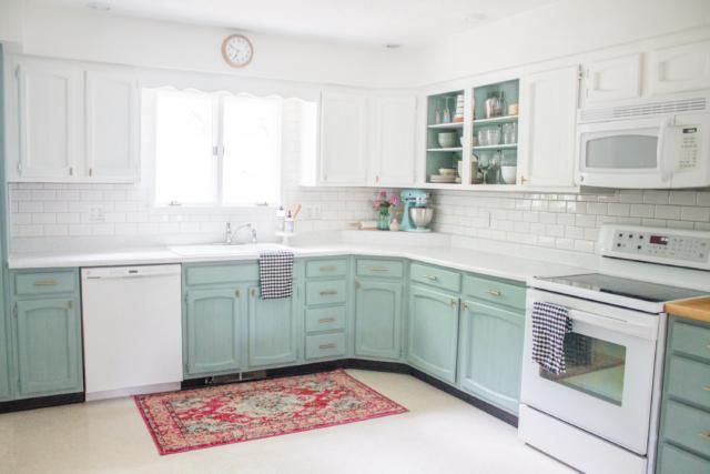 Chalk Paint Kitchen Cabinets 2 Amazing, Annie Sloan Blue Kitchen Cabinets