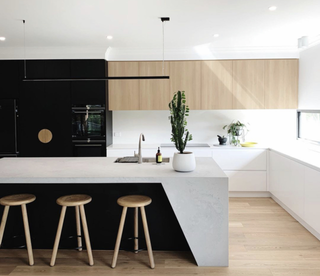 Kylie's new kitchen is a neutral antidote to the other areas of her home