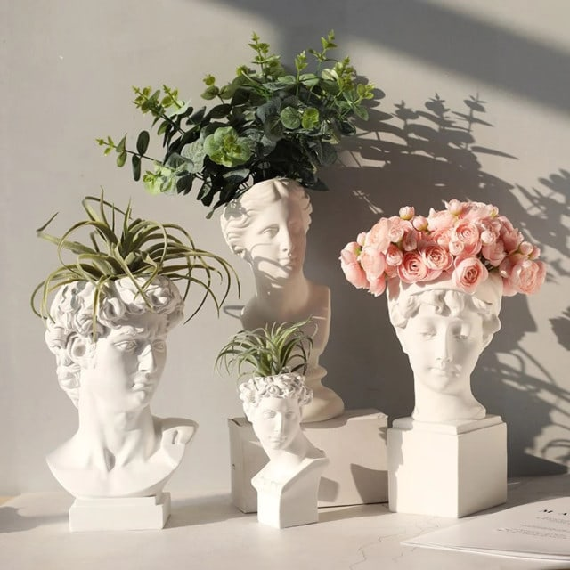 Roman Head vase