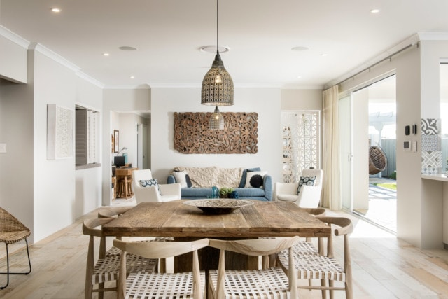 he coastal Hamptons trend remains solid if the popularity of this living space by Jodie Cooper Design is any indication. Photo by DMax Photography.