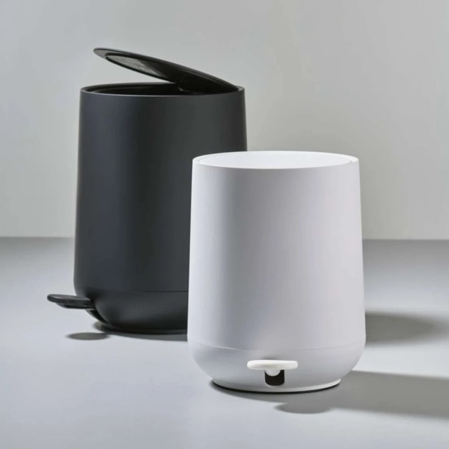 The Nova pedal bin by Zone Denmark is another popular style