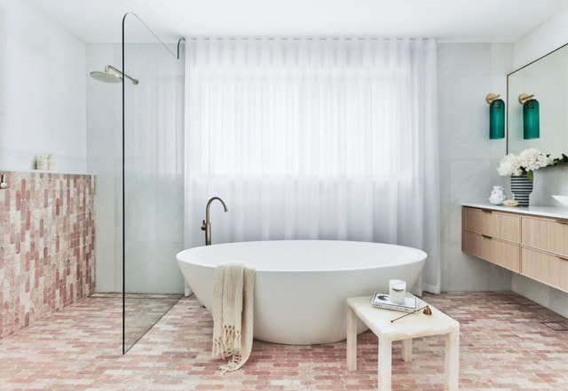 This bathroom is a finalist in the 'Large Bathrooms' category and is by Cate Liedtke
