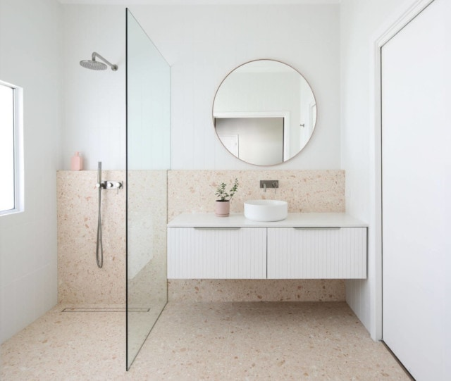 This bathroom, by Caitlin Slater, is a finalist in the 'Small Bathrooms' category